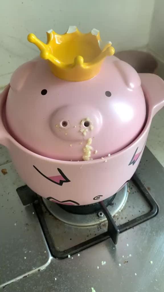 猪猪女孩拥有了一个猪猪锅