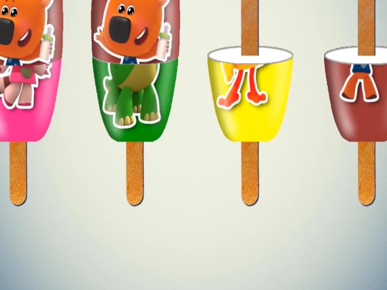 一起来包装小熊雪糕吧,趣味早教拼图,颜色双语早教