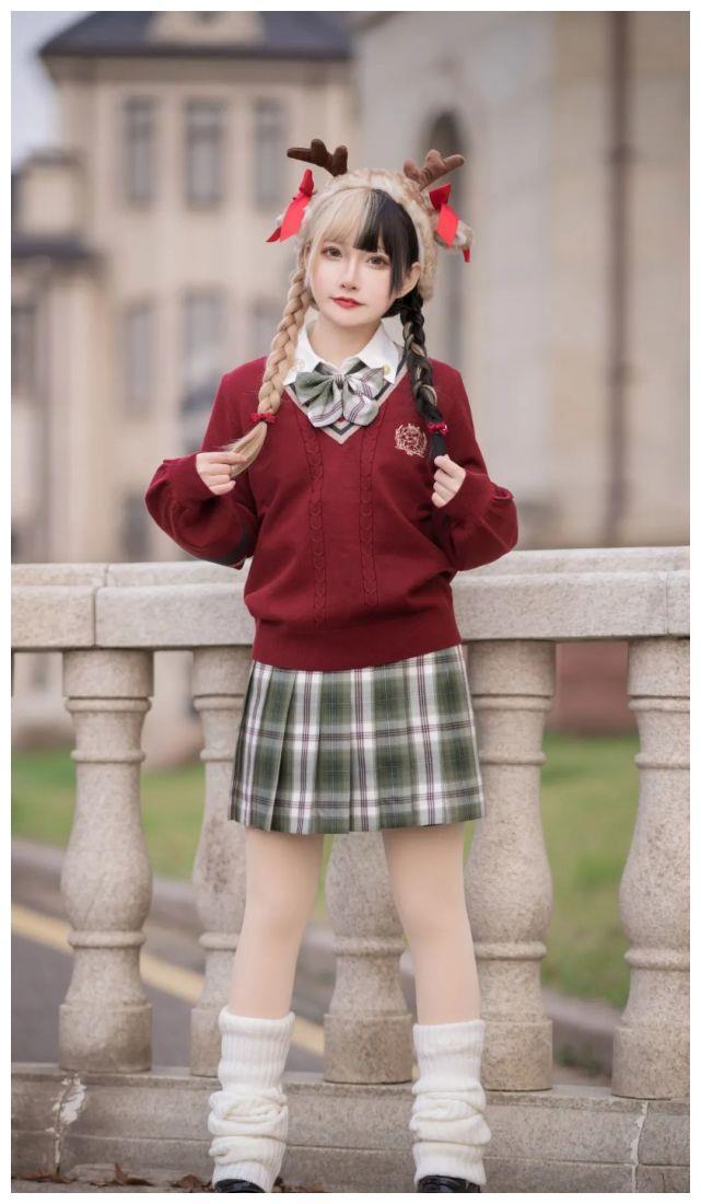 JK少女:鹿琦学院甜蜜的圣诞风
