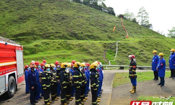 中石化怀化石油分公司:企地联合演练,为清明节消防安全保驾护航