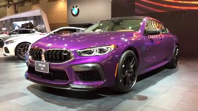 闷骚的紫色!BMWM8雷霆版617HP