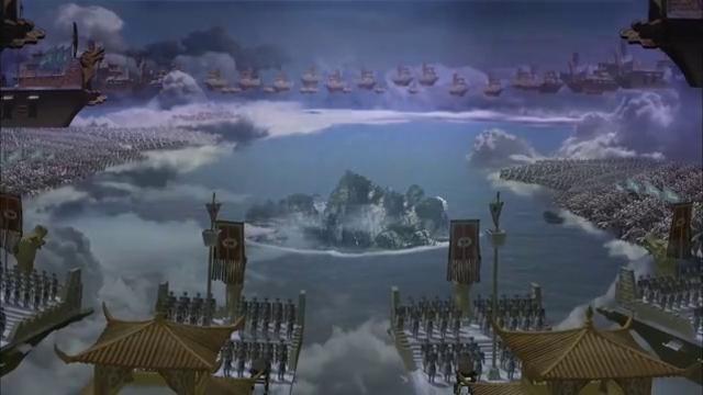 武侠:黑袍率天兵天将围攻蓬莱仙岛,众神奋力杀敌,特效满分