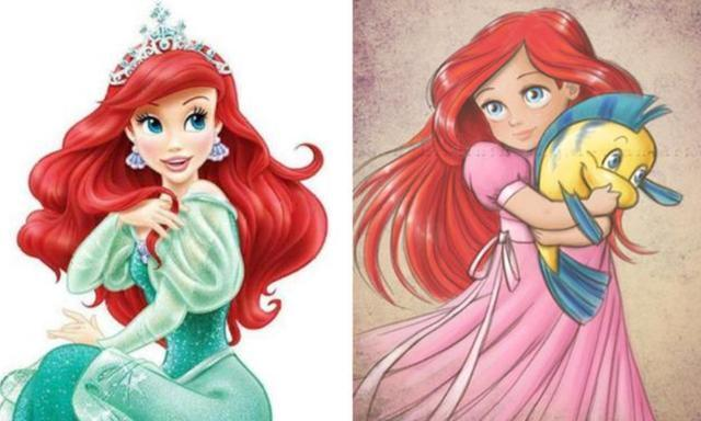 当迪士尼公主变成小孩子!爱莎和爱丽儿也太可爱了吧