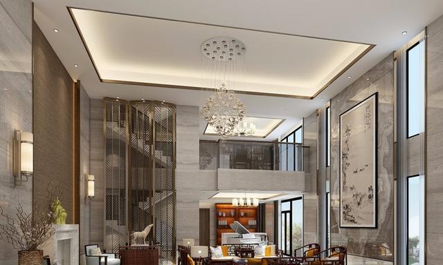 中式风格别墅装修案例,500平米的房子装修多少钱?-东部华侨