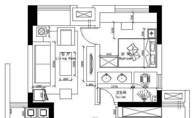 80㎡两房具有个性和艺术气息的家居设计