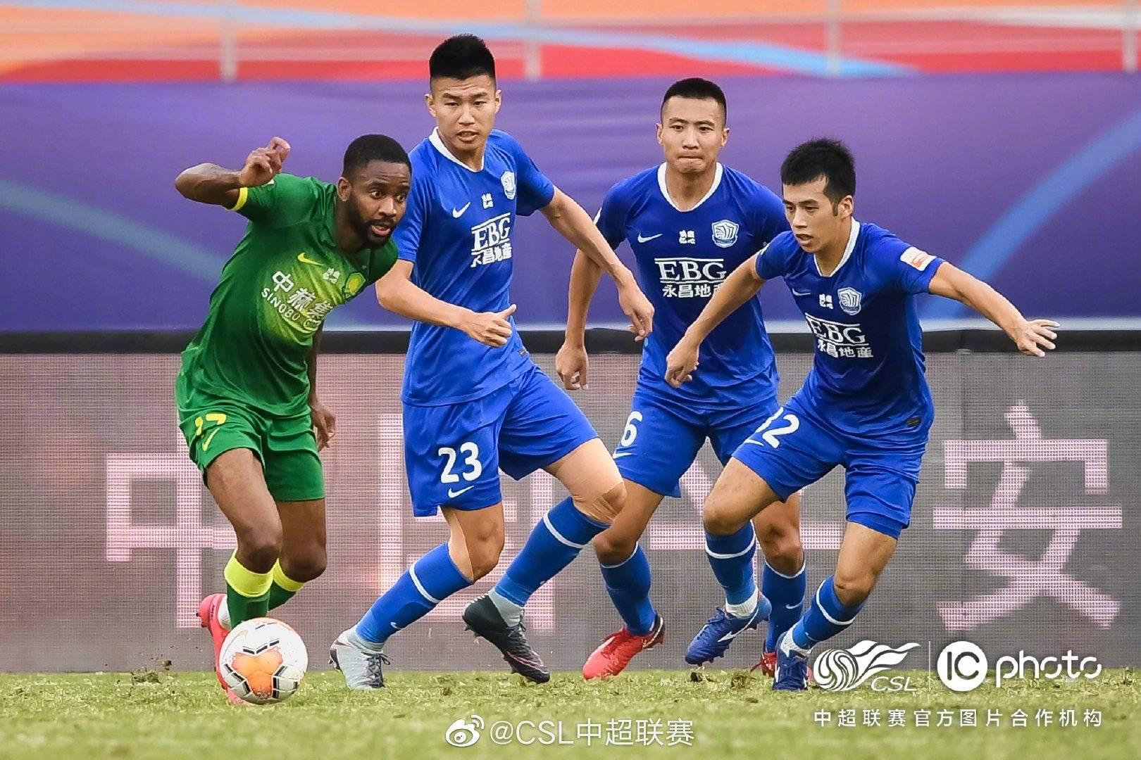 中超第十四轮北京中赫国安4:0石家庄永昌,费尔南多打进两粒进球