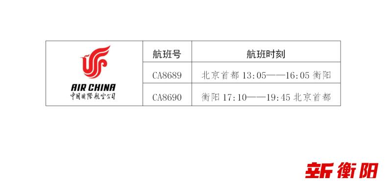 衡阳南岳机场新航季航班时刻表来了!