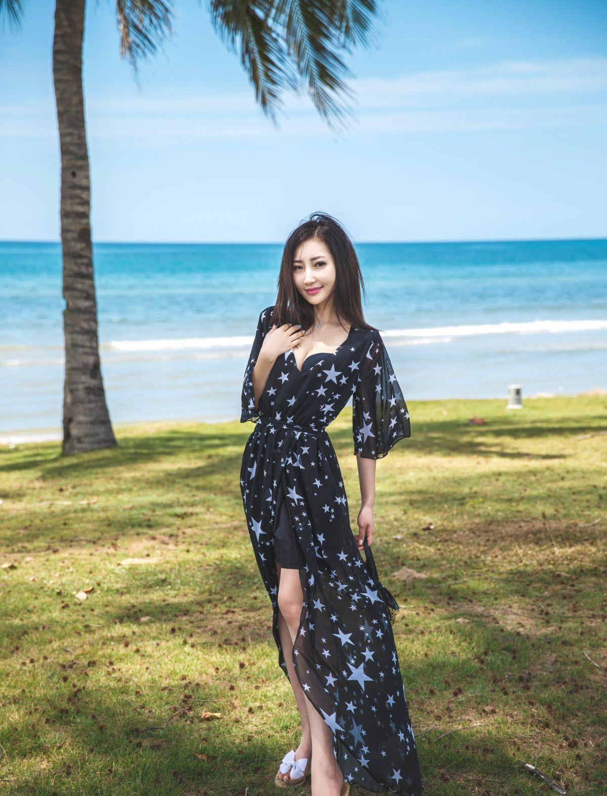 宁静的海边沙滩,发现美丽