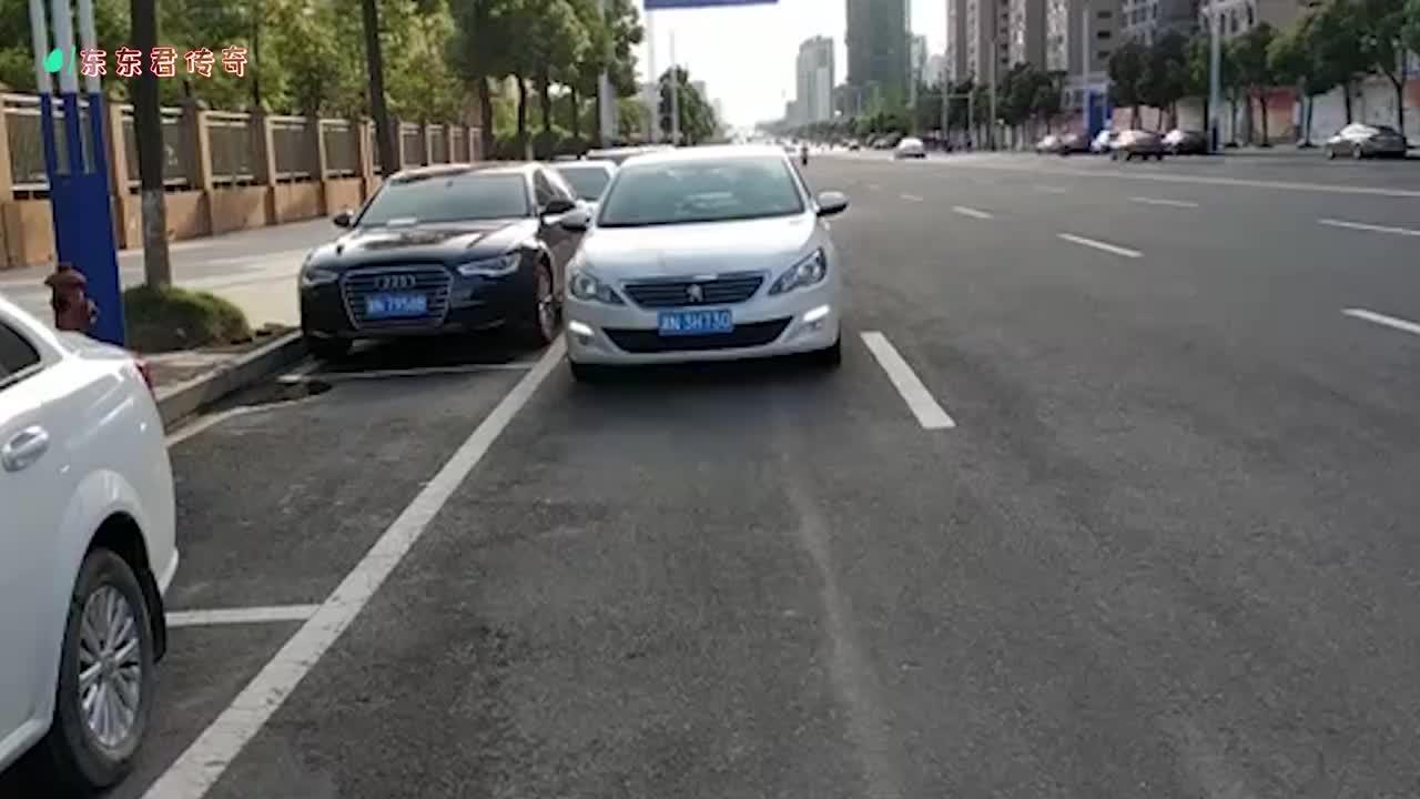 短车位侧方停车老司机亲自演示一把入位新手表示很难