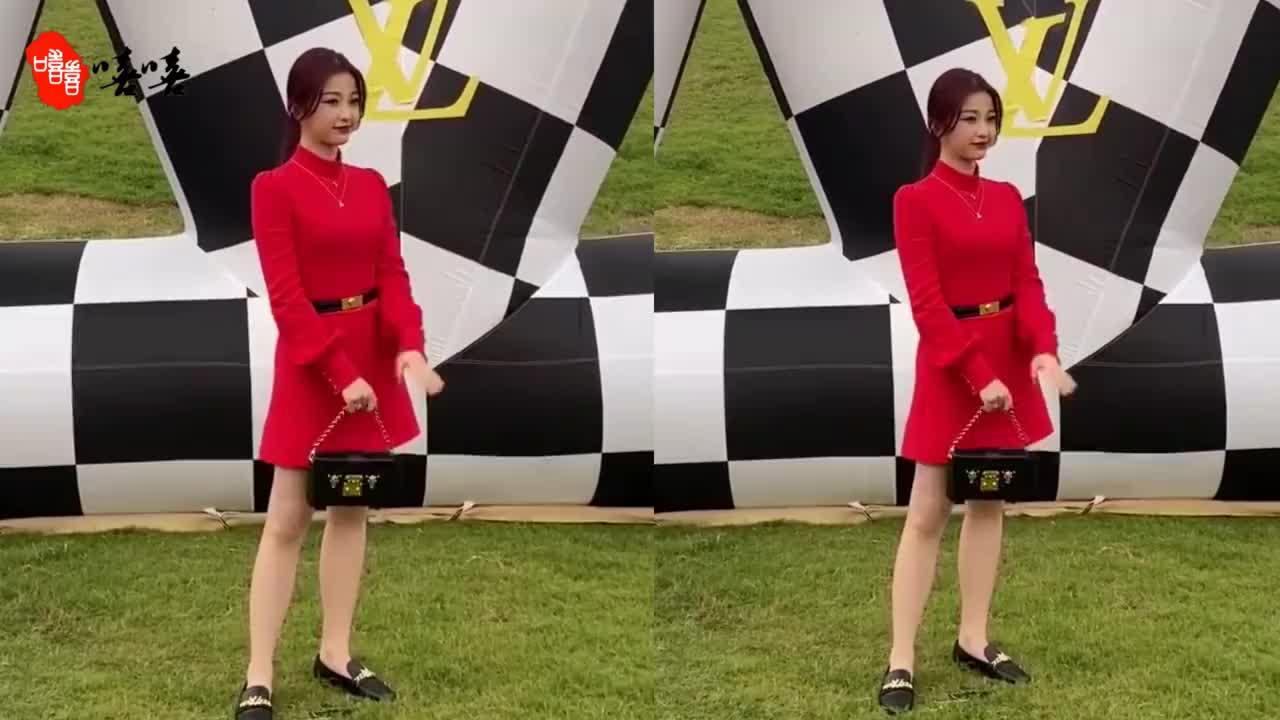 虞书欣穿红裙身材发福,粗腿抢镜,拍照时喊话记者:我今天要高冷