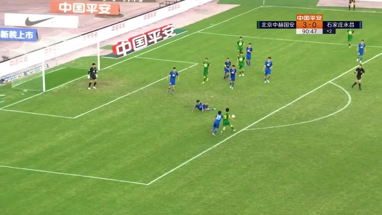 刘国博右路传中,巴顿跟上右脚爆射破网!国安4-0战胜永昌