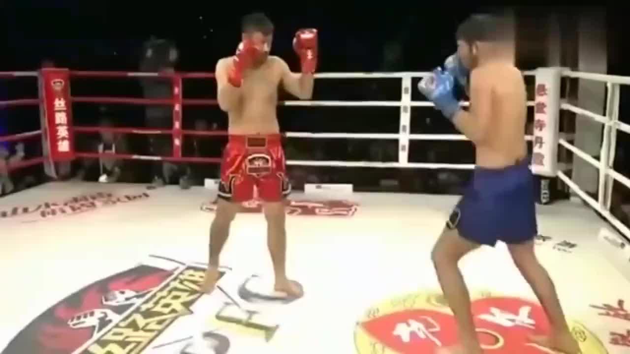 中华英雄霸气!美国特种兵上台挑战,遭王洪祥30秒重拳打倒!