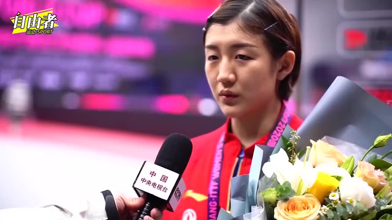 女乒世界杯落幕,陈梦夺得个人首冠,伊藤美诚领奖时抢戏