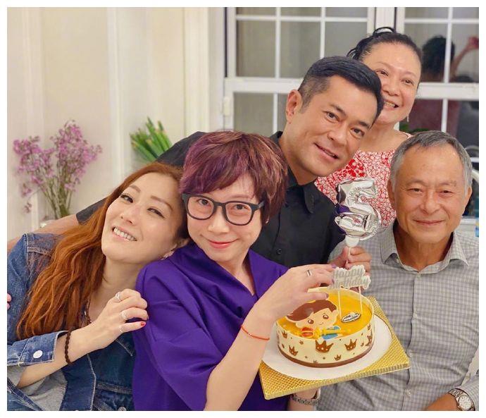 郑秀文杜琪峰为古仔庆生,平平无奇古天乐已50岁,还是无妻无女