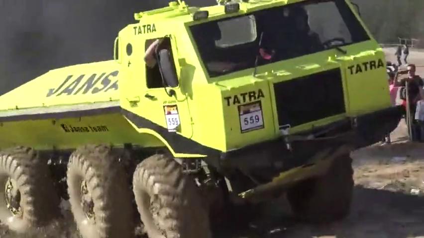 8x8捷克和塔特拉卡车,极地越野全驱动挑战