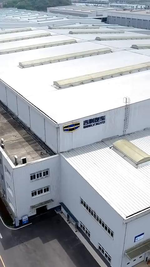 航拍贵阳吉利汽车制造工厂,年产30万辆整车,太震撼了!