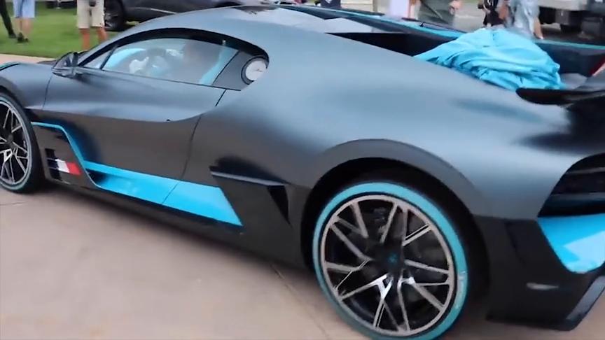 实拍布加迪新款跑车Divo,忧郁的蓝色让人欲罢不能