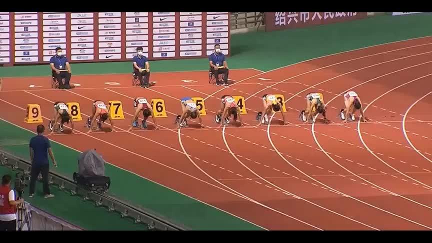 全国田径锦标赛女子百米决赛,短跑女神葛曼棋11秒35夺冠