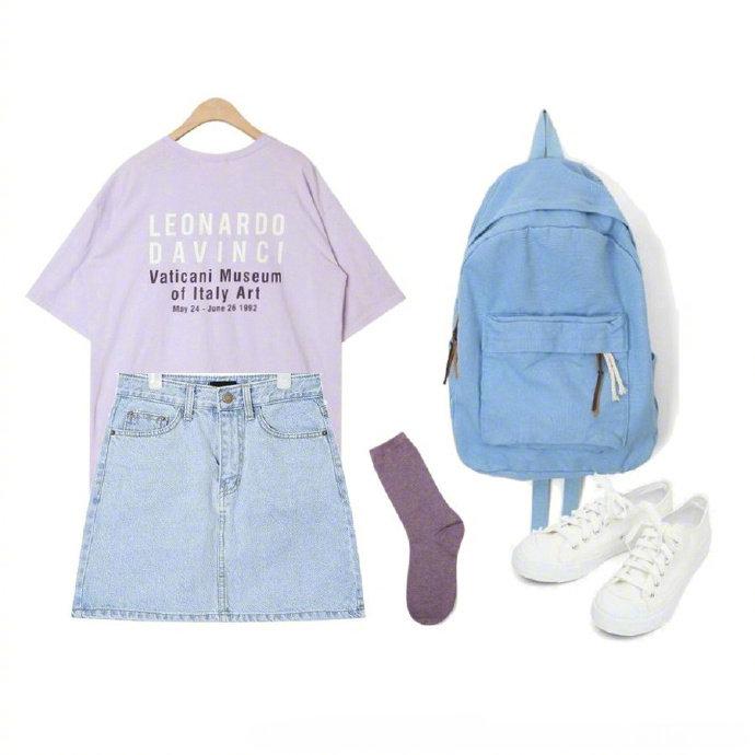 夏日超清爽紫色系搭配,清新好看。