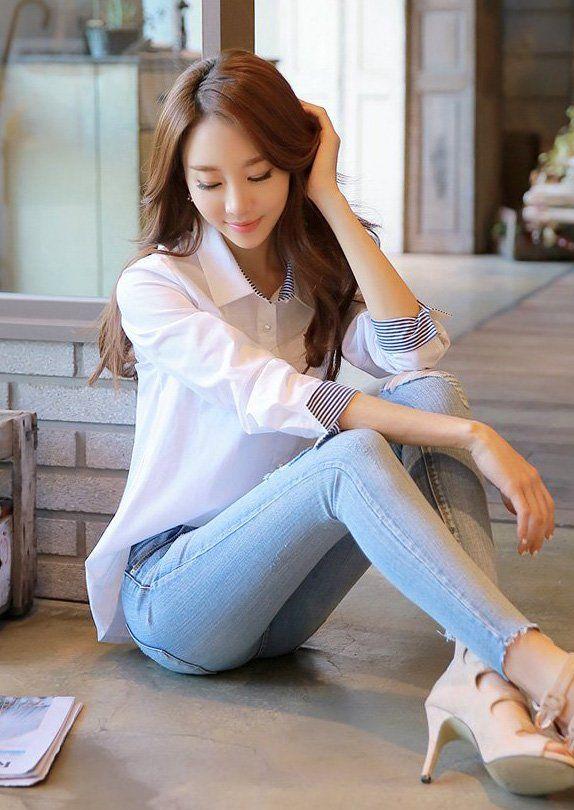 甜美的韩国正妹,网友:就是要这样的女朋友