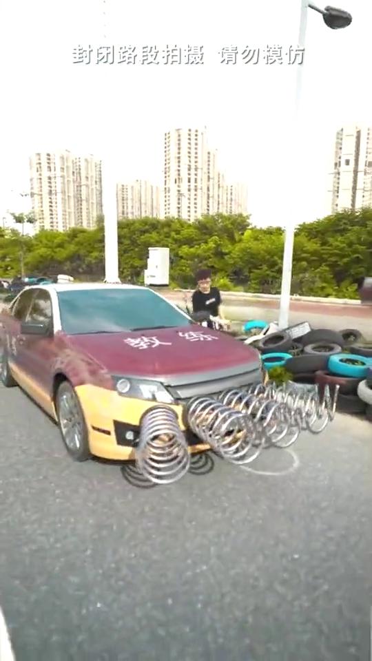 防撞弹簧汽车测试,这个设计怎么样