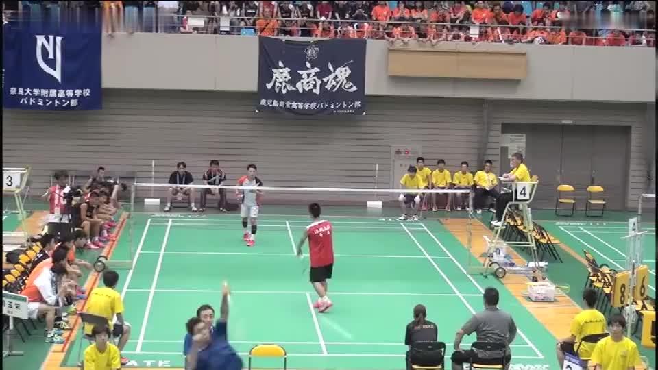 日本高校男单决赛,小小高中生都这么厉害,难怪日本羽球发展迅速