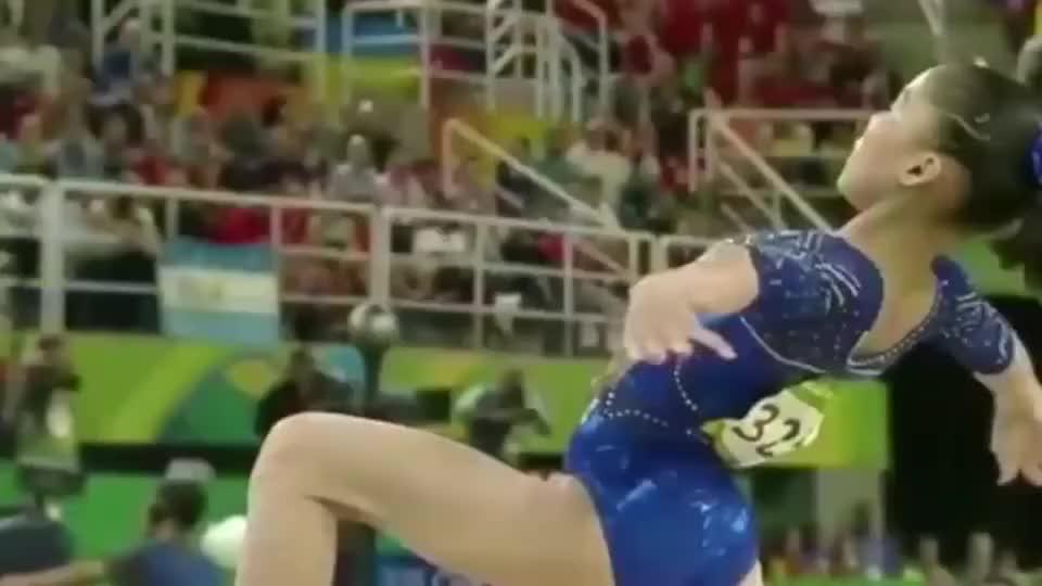 女子体操:慢动作才能绽放出体操小花们的美