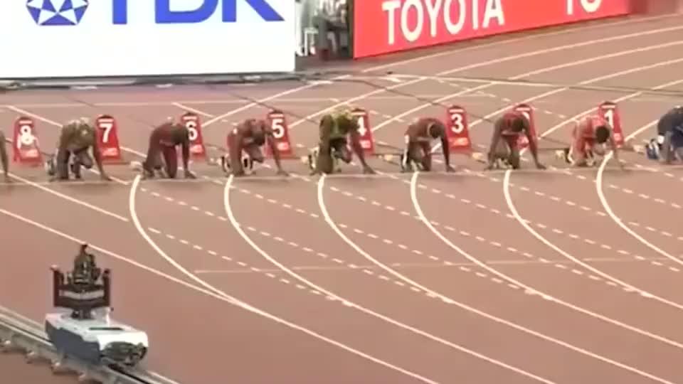 百米巅峰对决,加特林最想赢的比赛,这场他是拿命在跟博尔特跑!
