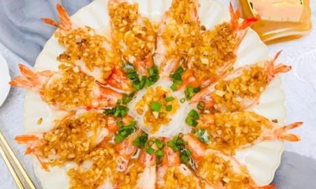 中秋节将至,教你一道硬菜蒜蓉粉丝虾,家宴上露一手,倍有面子