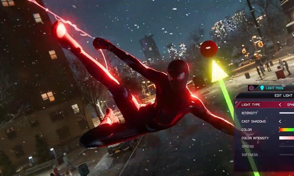 《漫威蜘蛛侠:迈尔斯·莫莱拉斯》相机模式演示