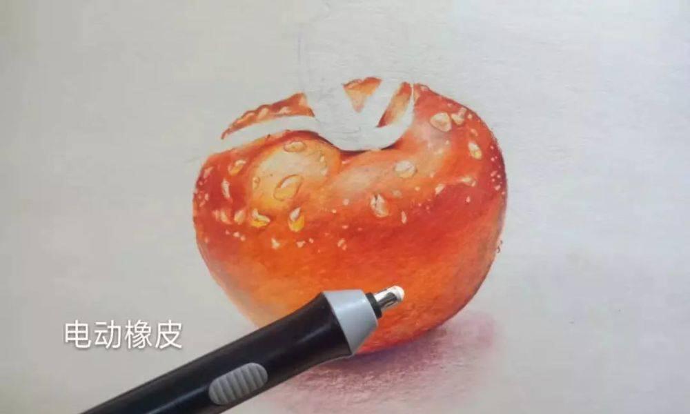 彩铅教程——教你画出有质感的西红柿