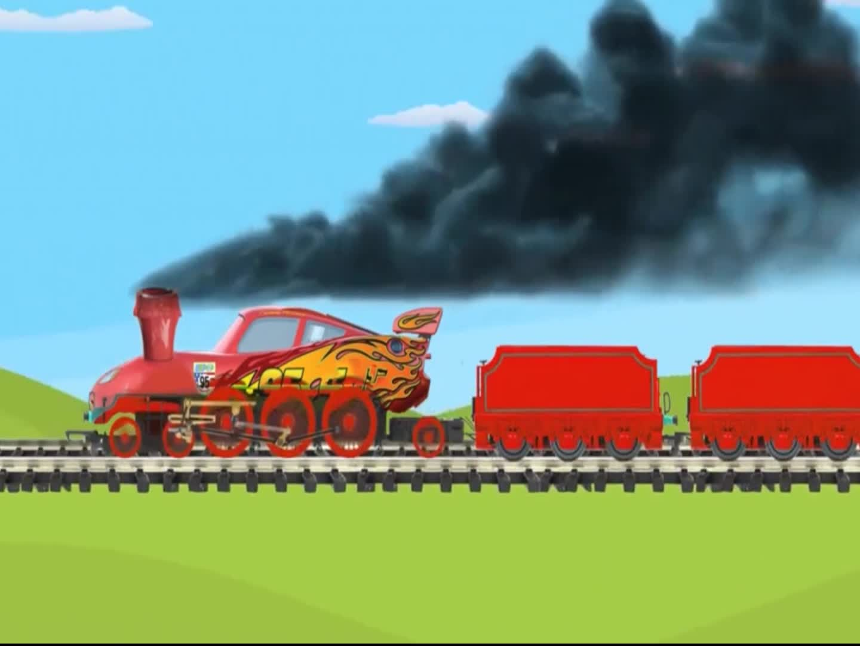 不同颜色的小火车,运载闪电麦昆小彩蛋,颜色双语早教