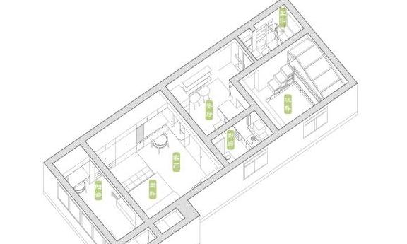 45㎡日式风格小宅,户型虽小却温馨实用,网友:两室两厅已足够