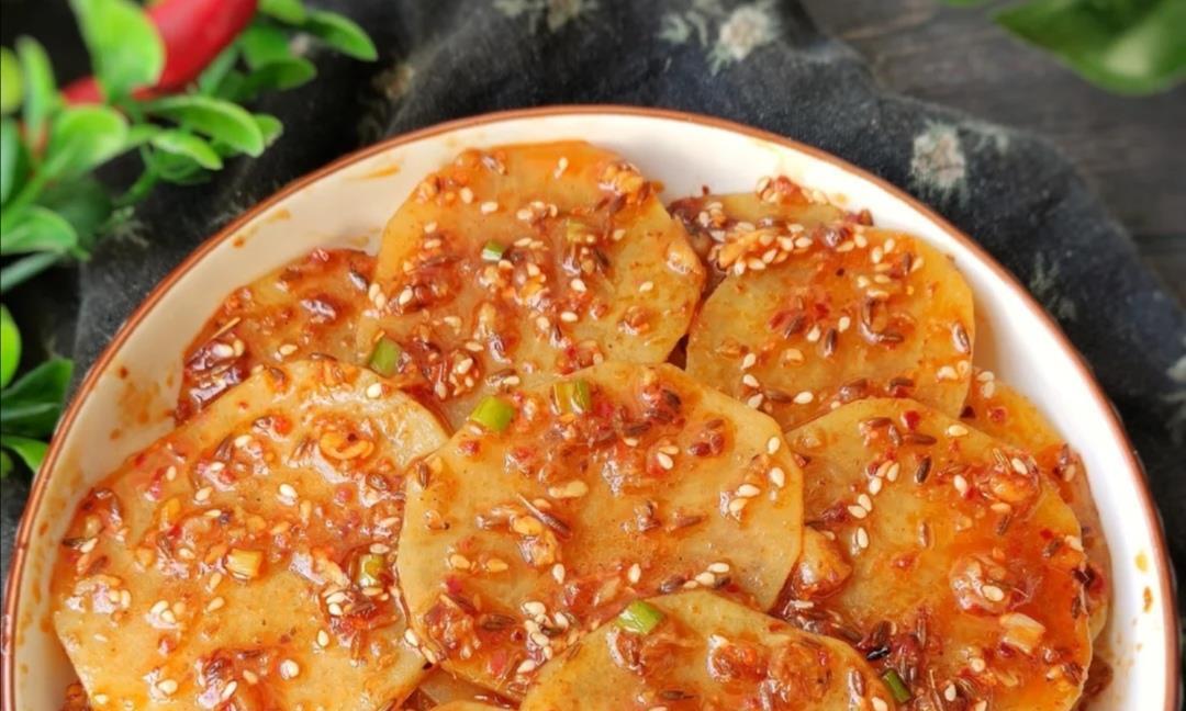 香辣销魂土豆片,看着就感觉很有食欲了