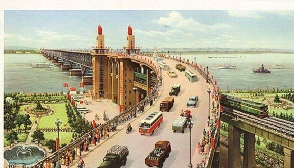西湖南京长江大桥,60年代旅游宣传画,你见过不?