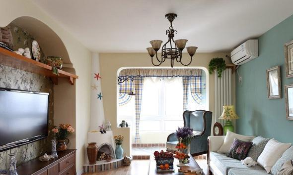 地中海风格三居室如何装修,98平米的房子这样装才阔气