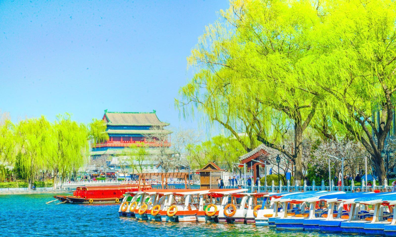 假日去北京什刹海游玩,体验风光秀丽的水乡美景!