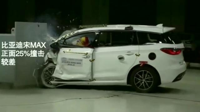 国产七座MPV,比亚迪宋MAX,碰撞测试,画面太惨烈