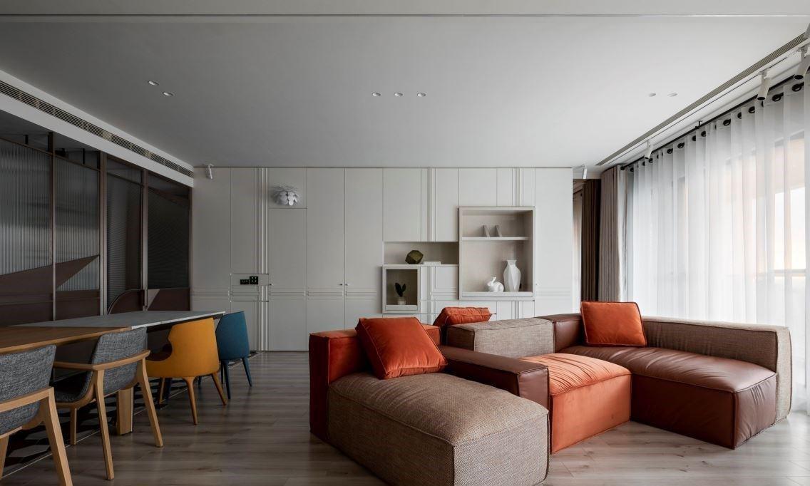 大套三房装修案例丨选材立足当下生活,设计适应未来人生