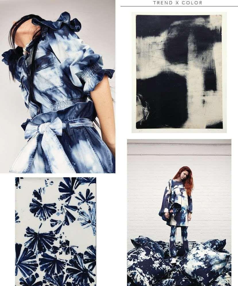 2020时尚趋势:时尚靛蓝扎染,带给你如大海般的个性和迷人