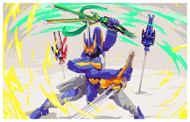 假面骑士圣刃11月份四大骑士皮套:邪王龙披风瞩目,剑闪造型独特