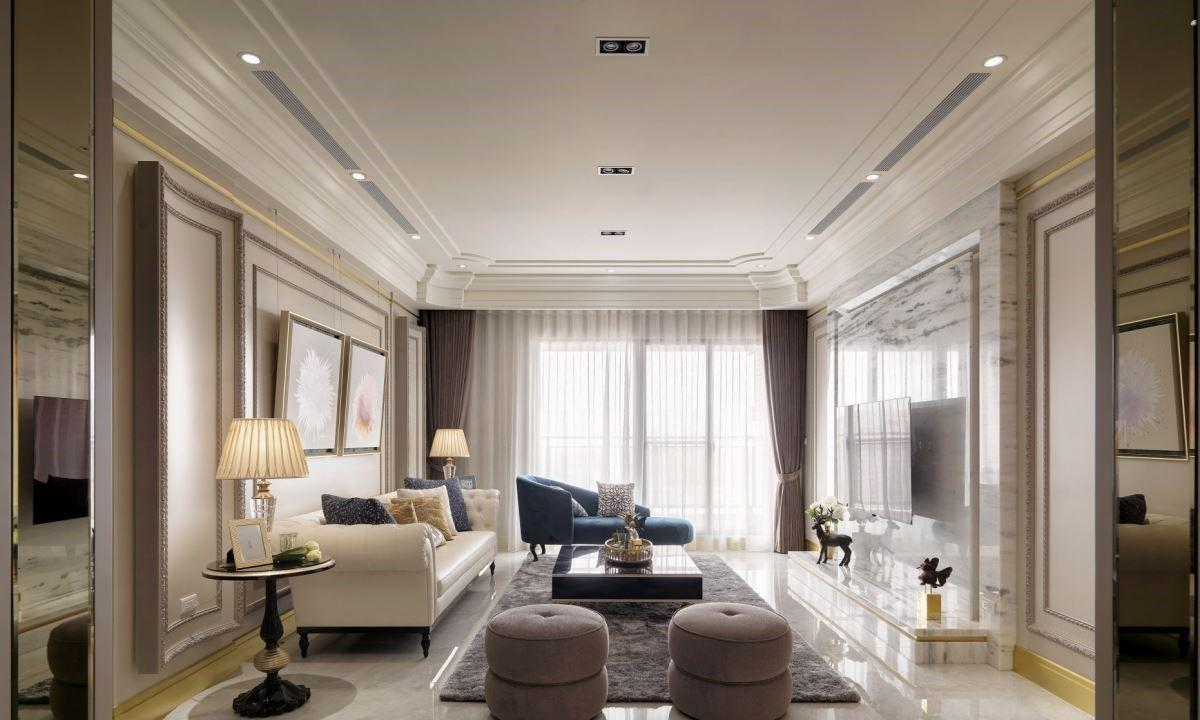 170平方米四房二厅设计图丨用浪漫古典元素,满足一家人的憧憬