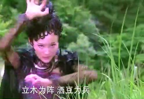 刘峰不慎陷入陷阱,巨大无比的蜘蛛精出现把他困在蜘蛛网中