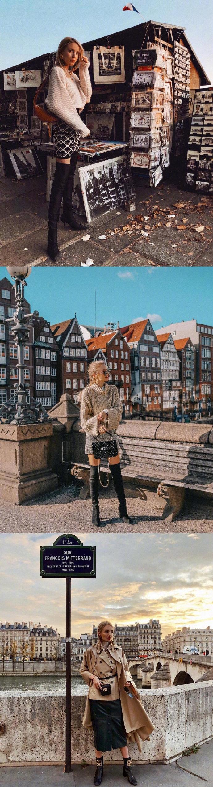 德国博主Leonie Hanne裙装穿搭合集,裙子太时髦啦。