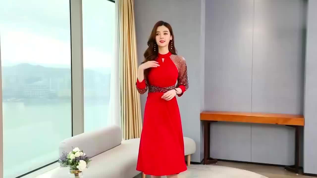 优雅小清新连衣裙,时尚减龄显瘦名媛范