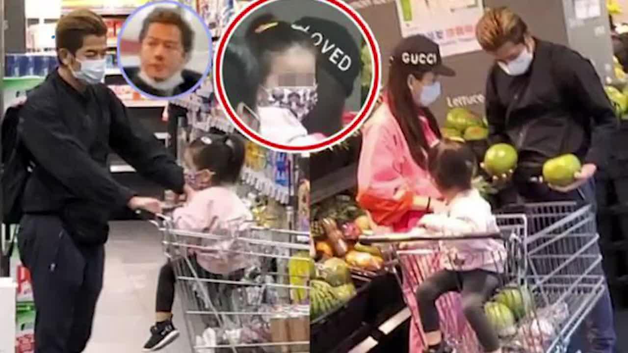 防疫到位郭富城携妻子女儿逛超市 戴口罩消毒购物车超细心