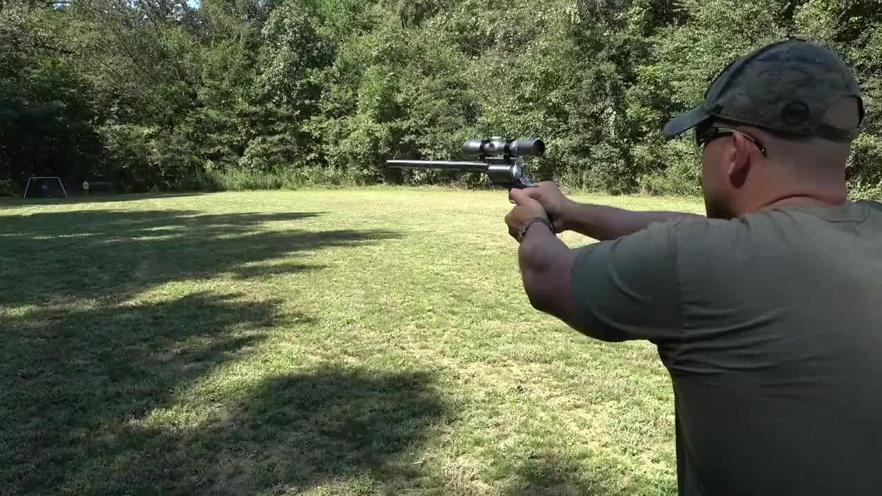 """不一样的M500马格南左轮手枪,俗称""""掌炮""""这枪管也太长了吧?"""