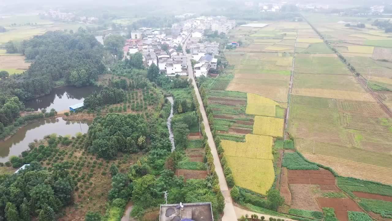 航拍常宁西岭镇平安村,周敦颐后裔聚居地,醉美生态文化村
