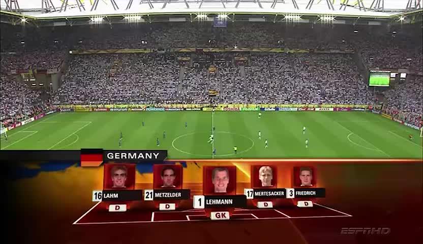 重说经典!06世界杯格罗索建功皮耶罗破门 意大利2-0德国