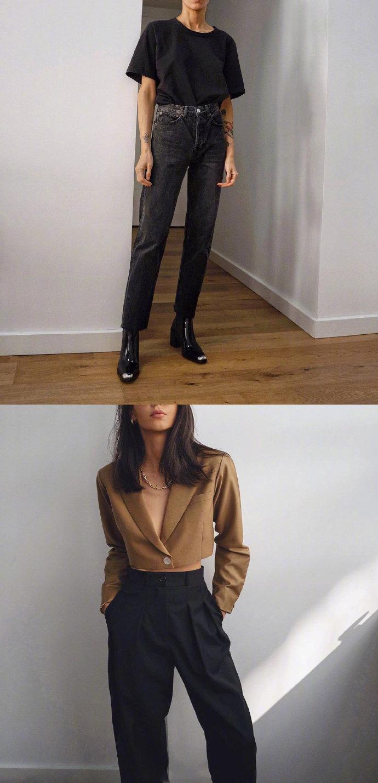 时尚博主Petra的通勤daily look,极简风的穿搭教科书。